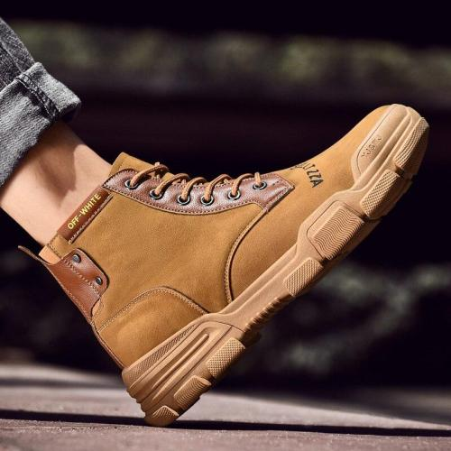 Super Warm Men's Winter Leather Ankle Boots Men Autumn Waterproof Snow Boots Leisure Martin Autumn Boots Shoes Mens 2020 New