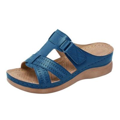 New Summer Women Sandals Stitching Sandals Ladies Open Toe Casual Shoes 2020 Fashion Platform Wedge Slides Beach Shoes