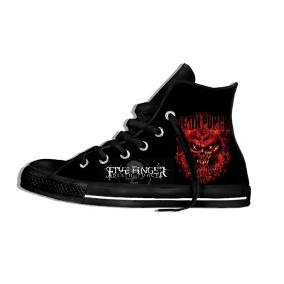 Five Finger Death Punch Music Rock Fashion Lightweight High Top Canvas Shoes Men Women Casual Breathable Sneakers