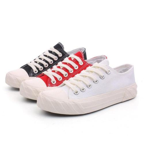 New Trainers Canvas Flat Shoes Women Casual Lace-up Vulcanize Shoes Women Summer Autumn Sneakers Ladies Flat Casual shoes