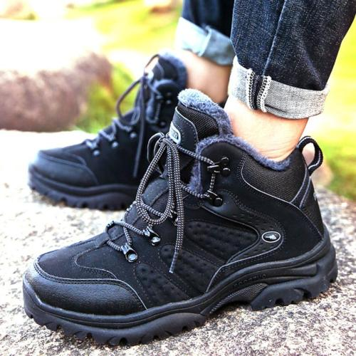 UPUPER Men's Boots Winter Warm High Quality Waterproof Work Boots Men Shoes Safety Leather Sneakers Outdoor Men Snow Boots 2019