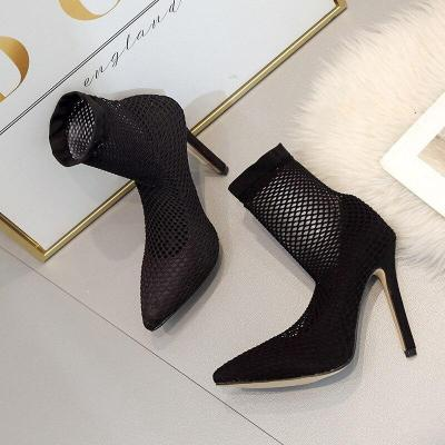 Fine Heeled Shoes Beige High Heels Lace-up 2020 Sandals Ladies Slip Om Branded Pumps Pointed Wedge Stiletto Black Casual Gold