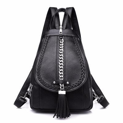 2020 Backpacks For Girls Mochilas Women Leather Backpacks Female Back Pack Preppy Style Large Capacity Travel Solid Rucksacks