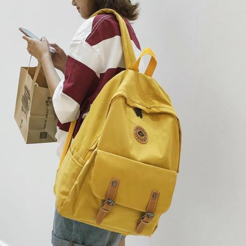 Fashion Buckle Cotton Fabric Backpack Cute Women School Bags For Teenage Girl Kawaii Backpacks Harajuku Female Bag Ladies Luxury