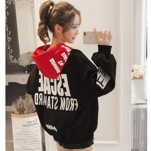 Hoodies Women 2020 Women Fashion Sweatshirts Long Sleeve Hoodies Print Letter Female Tracksuits Sportswear Moletom Feminino 2XL