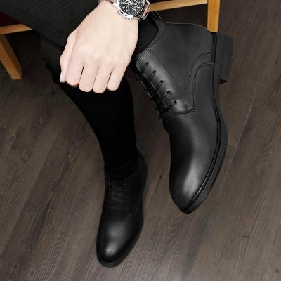 Men's Shoes Winter With Fur Warm Leather Ankle Boots Men Boots Men Business Oxford Boots Men Warm Dress Classic Shoes