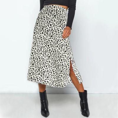 High waist maxi skirts sexy slit leopard print skirt women beach holiday chic long skirt casual summer spring skirt bottom 2020