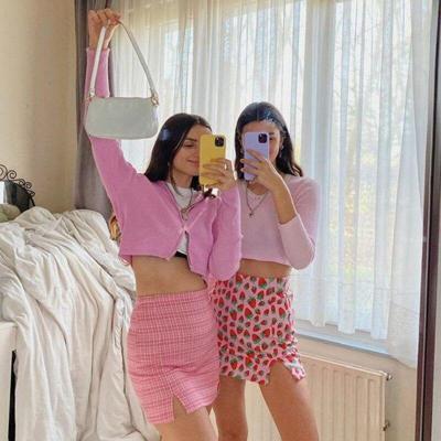 Strawberry fruit print mini skirt women casual short skirt high waist beach boho casual skirt elegant skirt female girl 2020