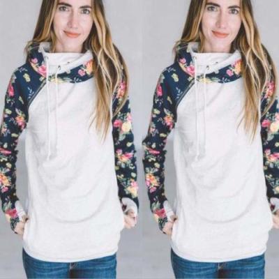 2017 Autumn Winter Hot Fashion Women's Long Sleeve Hooded Sweatshirt Warm Jumper Pullover Tops Hoodies Floral Soft Sweatshirts