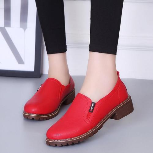 Non-slip autumn casual shoes woman loafers sneakers women shoes 2019 fashion solid square heel ladies shoes flats women sneakers
