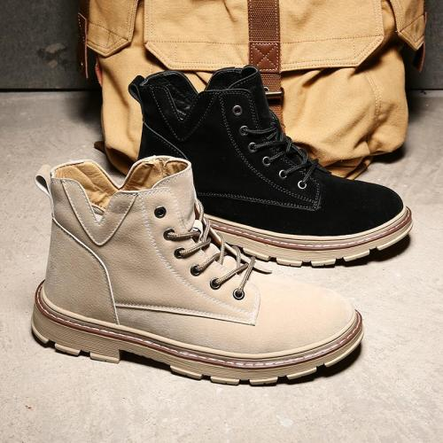 Brand Winter Men Ankle Boots Quality Leather Shoes Warm Men's Snow Boots Winter Shoes Fur Men's boots Shoes Size 39-44