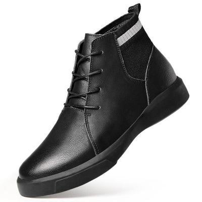 Hot Boots Men Cow Suede Men's Winter Ankle Boot Men Warmest Snow Boots Men Casual Thick fur Shoes Big Size 47