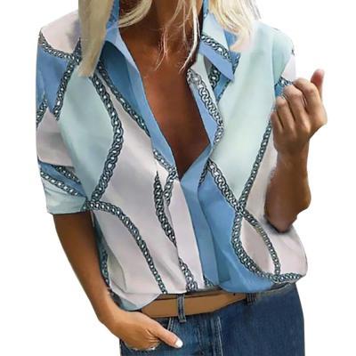 Bohemia Dot Print Blouse Women Pull Blusas Casual Autumn Tops 2020 Ladies Shirt Chemisier Femme Plus Size 5XL Hawaiian Shirt