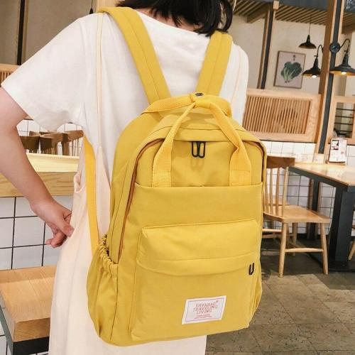 Cute fashion women backpacks teenage girl school bag Applique waterproof backpack female Nylon fabric Student book casual ladies