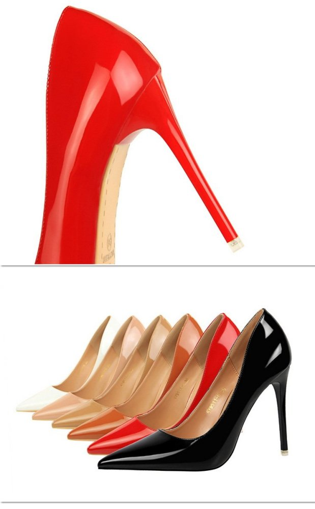 Women High Heels Office Lady Shoes White Pump Fashion Thin Heels 2019 Summer Ladies Shoe Pointed PU Leather Elegant G0058