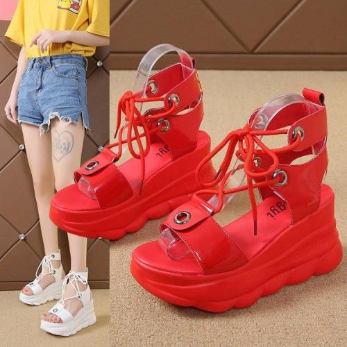 chunky sandals summer heel sandals wedges sandalen dames 2020 chaussure pour femme espadrilles sandalias woman shoes