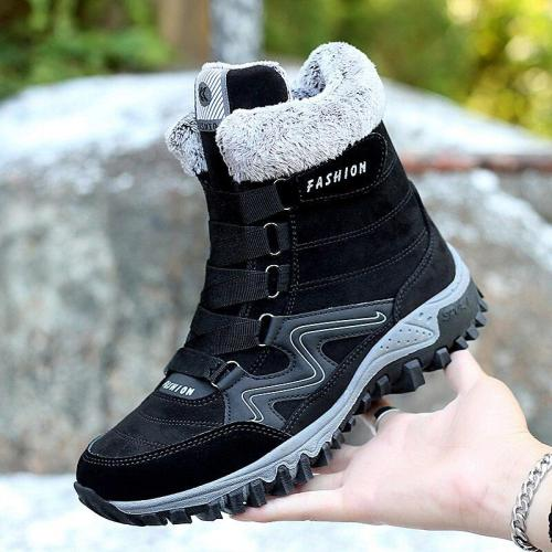 Men Cotton-padded Shoes Non-slip Waterproof Snow Boots Winter Ankle Keep Warm Sport Shoes Outdoor Comfortable Walking Shoes 2020