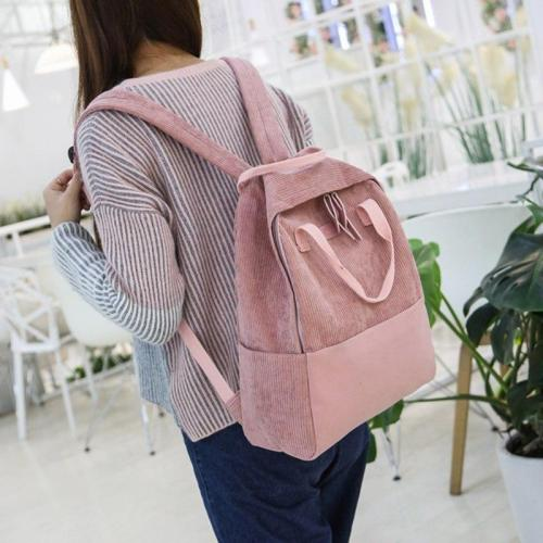 Stripe Female Corduroy Backpack kawaii Women School Bags Girl Luxury Cute Backpacks Harajuku Fashion Ladies Bag Student Book New