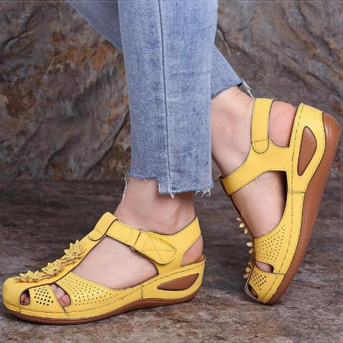 Women Sandals Plus Size 44 Wedges Shoes Woman Heels Sandals Chaussures Femme Soft Bottom Platform Sandals Gladiator Casual Shoes