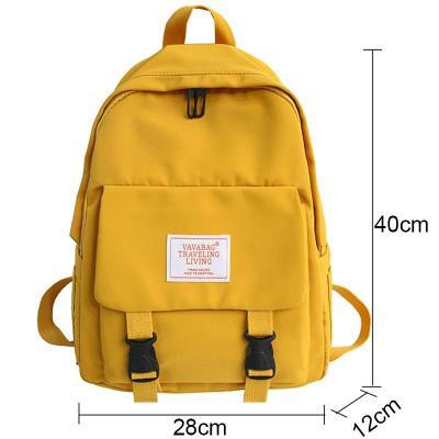 Fashion Buckle Waterproof Backpack Cute Women School Bags For Teenage Girls Nylon Backpack Female Student Book Bag Ladies Luxury