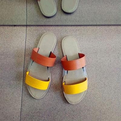 Woman Flat Slippers New Summer Female Bling Slip On Transparent Comfortable Casual Beach Shoes Ladies Slides Fashion Footwear