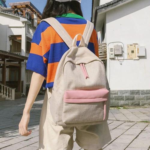Student Female Linen Backpack Cute Women harajuku School Bags Girl Kawaii Backpack Fashion Luxury Teenage Bag Lady Book 2019 new