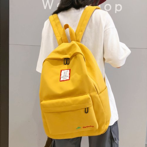 Waterproof Nylon Student Backpack Cute Women School Bag For Girl Backpack embroidery Kawaii Lady Teenage Female Fashion Book Bag