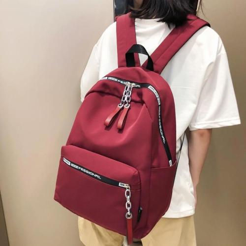 Student Female Fashion Backpack Chain Cute Women Harajuku School Bags Teenage Girl Nylon Backpack Luxury Ladies Kawaii Bag Book