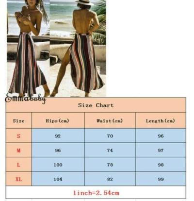 Women Elastic Waist Split Stripe Skirt 2020 New Fashion Ladies Casual Sexy Elegant High Waist Sun Skirts