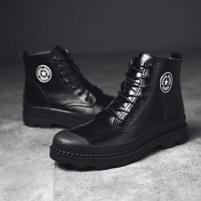 New 2020 Autumn Winter Boots Men Soft Leather Winter Shoes Warm Plush Men's Boots Male Brand Ankle Botas Waterproof
