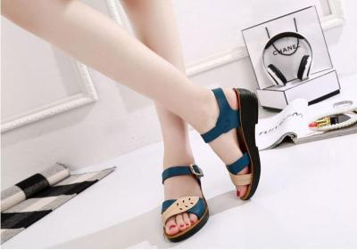 Middle-aged Leather Summer Shoes Woman Platform Sandals Soft Bottom Mothers Shoes Mixed Colors Fashion Female Sandals Footwear