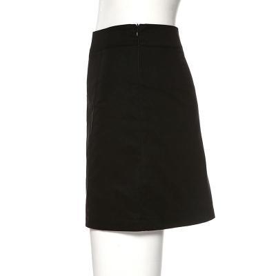 Sexy cut skirts womens 2020 summer short mini skirt casual holiday solid black skirt high waist slit zip skirts faldas