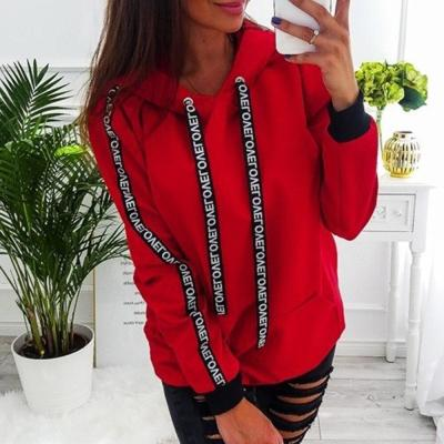 2020 Women Autumn Sweatshirt Women Long Sleeve Solid Hooded Pullover Tops Blouse Letter Print Hoodies Women Plus Size 5XL ##1