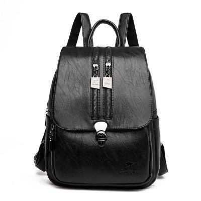 2020 Women Leather Backpacks Travel Shoulder Bag Female Backpack For Girls Sac a Dos Vintage Bagpack Ladies Mochilas Rucksacks