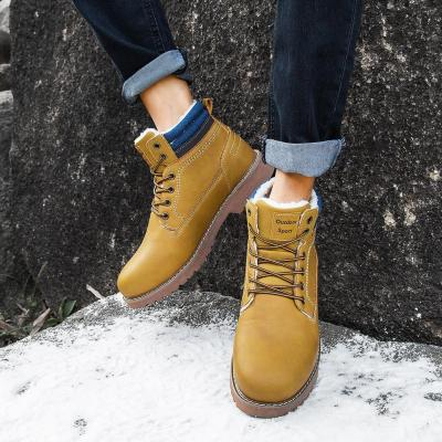 MINUSIKE Men Snow Boots Waterproof 2020 Winter Brand Super Warm Men's Leather Rubber Snow Wool Boots Leisure Outdoor Boots Shoes