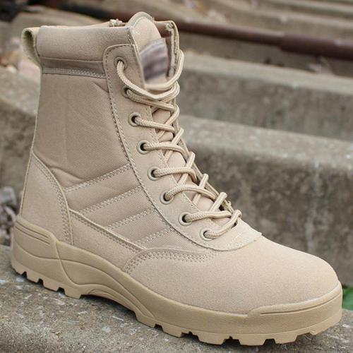 UPUPER High-Top Military Boots Men Waterproof Outdoor Safety Work Shoes Men Breathable Special Force Desert Army Men Boots