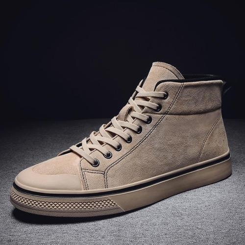 2020 Winter Men Shoes Fashion Brown Leather Boots For Men Casual Snow Boots Cheap Men Winter Boots Casual Leather Shoes