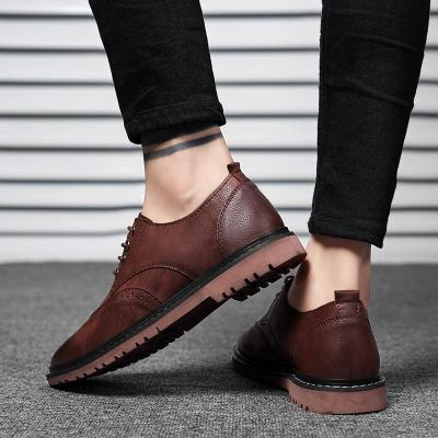 Men's Shoes 2020 Fashion High Quality Casual Walking Shoes Men New Retro Footwear Male Brand Leather Men's Casual Shoes