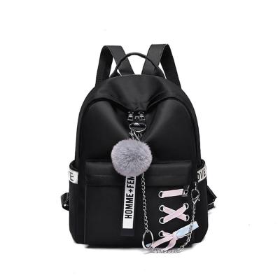 Creative Fashion Oxford Female Travel Backpack Chain Pendent Decoration Women's Mini School Bags For Girls Anti Theft Backpack
