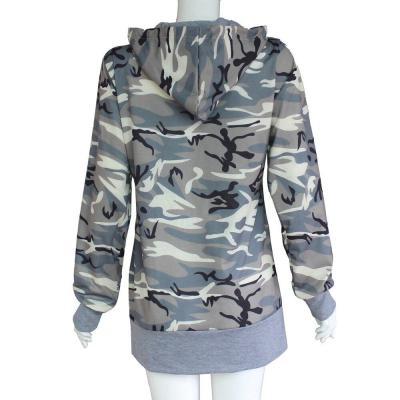 Womens Camouflage Printing Pocket Hoodie Streetwear Cool Hip Hop Sweatshirt Hooded Autumn Drawstring Long Sleeve Pullover Top#Y3