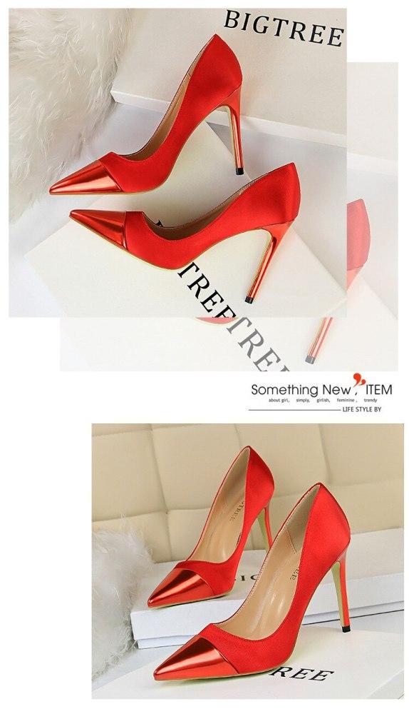 Female Dress Shoes Women New Arrival 2019 Pumps Designer Heels Wedding Shoes Sexy Silk Pink Shoes G0010