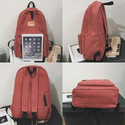 Student Kawaii Female Backpack Canvas Women Vintage School Bag Teenage Girl Fashion Backpacks Cute Ladies Luxury Cotton Bag Book