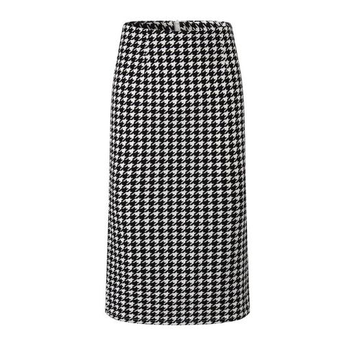 Houndstooth Print Pencil Skirt Official Bodycorn Skirt Plus Size Split Midi Skirt Summer Warp Skirt Zipper Korean Vintage Sexy