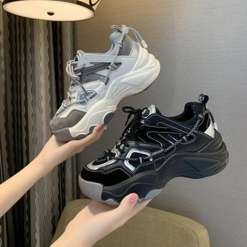 Platform Sneakers For Women 2020 Autumn Ulzzang Fashion Vulcanized Shoes Ladies Chunky Sneaker Casual Trainers Woman Shoes 5cm