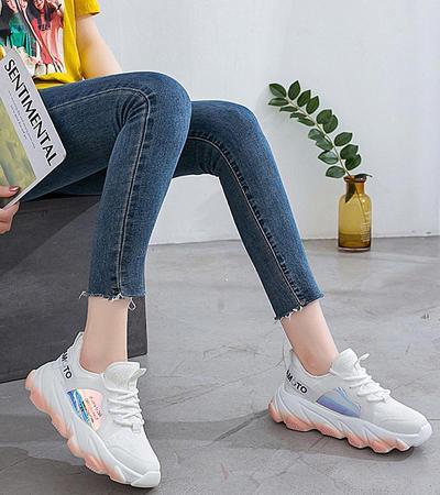 Platform sneakers women white Breathable Mesh casual shoes female new Summer Flat Women Vulcanize Shoes tenis feminino VT249