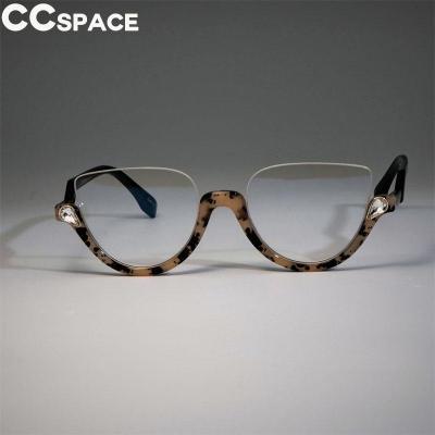45159 Cat Eye Glasses Frames Women Trending Styles Half Frame Designer Fashion Computer Glasses