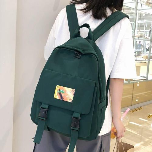 Cute holographic Applique backpack women school bags for teenage girls kawaii nylon Buckle backpack luxury lady student bag book