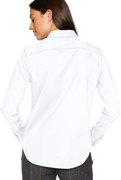 Chaps Women's Long Sleeve Non Iron Broadcloth-Shirt