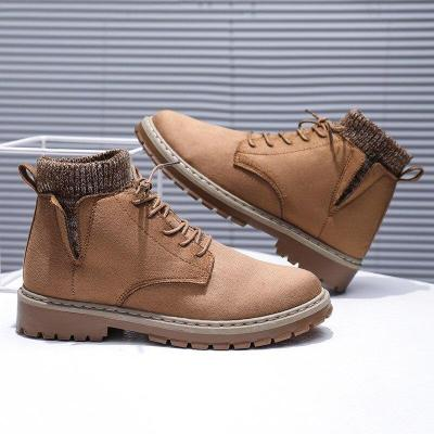 UPUPER Fashion Men's Boots Comfortable Casual Warm Winter Shoes Men Footwear Flats British Style High Tops Boots Man Shoes