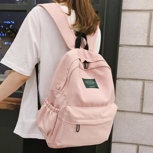 Waterproof cute pink backpack women school bags for teenage girls nylon kawaii backpack ladies luxury Student bag female fashion